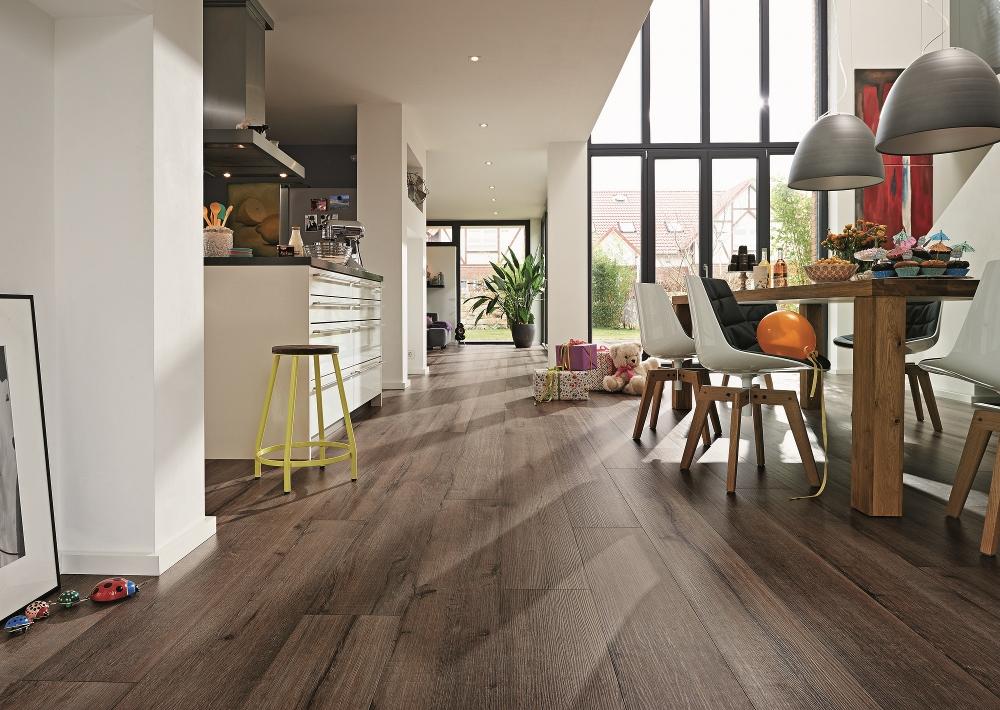 Kunststof designvloer zonder PVC in de keuken - Meister Silent Touch