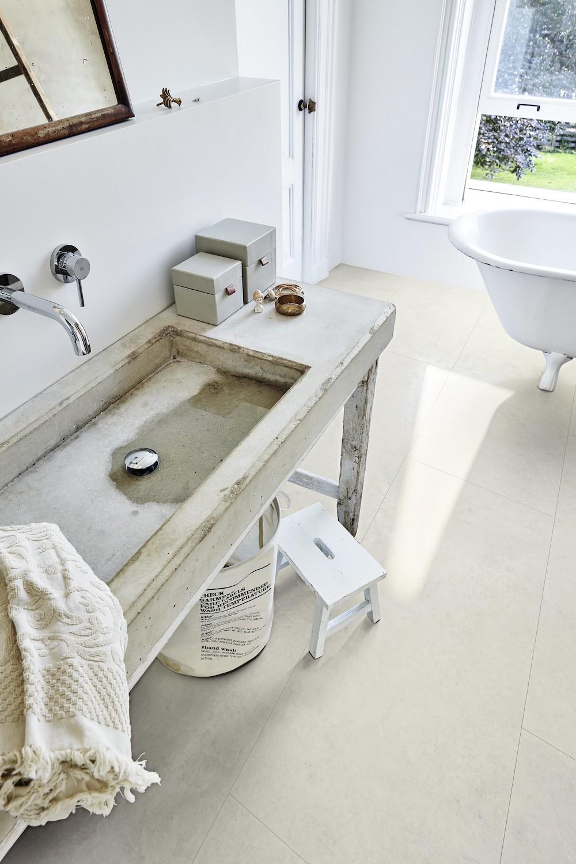 Vinylvloer zonder vinyl in de badkamer. Ecologische 4-in-1-vloer Meisterdesign #badkamer #badkamervloer #meisterdesign #meister #vinylvloer #ecologisch