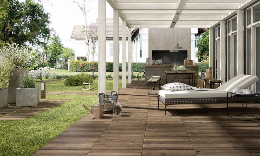 Keramisch parket - terrasvloer met houtlook van Nibo Stone #tuin