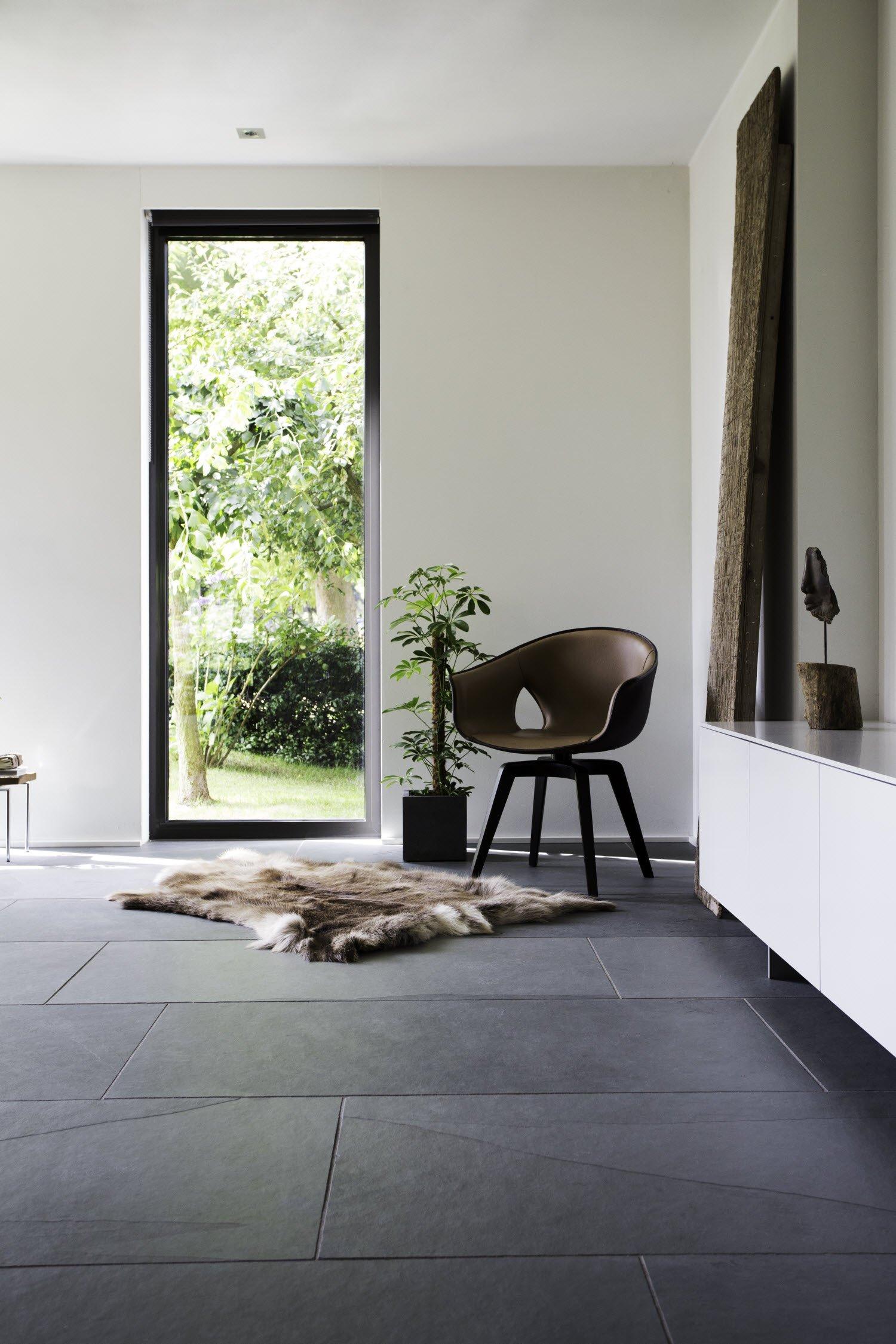 Binnenkijken: natuursteen vloer in modern interieur   nieuws ...