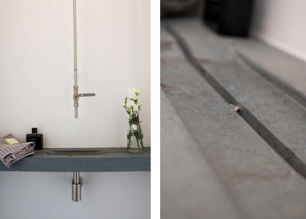 Binnenkijken natuursteen vloer in modern interieur  Nieuws Startpagina voor # Wasbak Vloer_121814