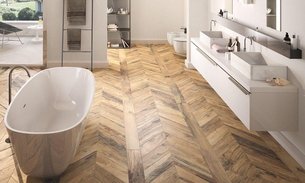 Houtlook tegels voor de badkamervloer nieuws vloerbedekking
