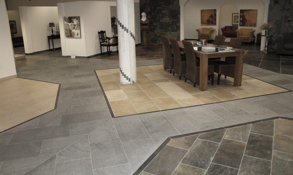 Showroom natuursteen vloeren Nibo Stone in Venlo