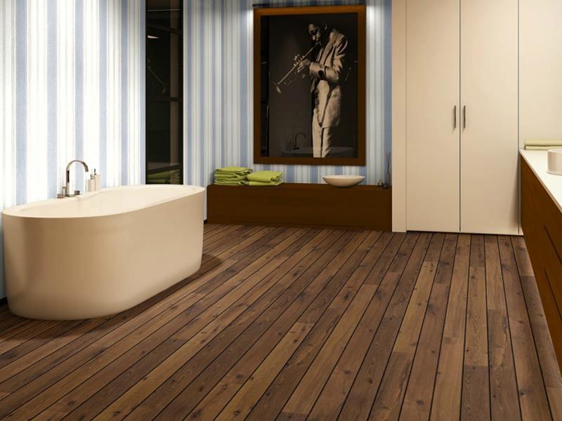 Warme houtlook badkamervloer met quicku step laminaat nieuws