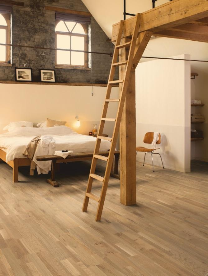 Houten vloer uit de Variano collectie van Quick-Step. Plankjes Plankjes in verschillende breedtes, lengtes en afwerkingen op één makkelijk te installeren plank