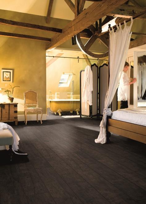Houtlook vloer voor badkamer en slaapkamer - Quickstep Livyn