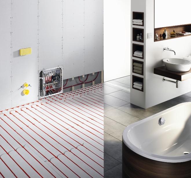 Alles over vloerverwarming nieuws startpagina voor for Installatiekosten badkamer