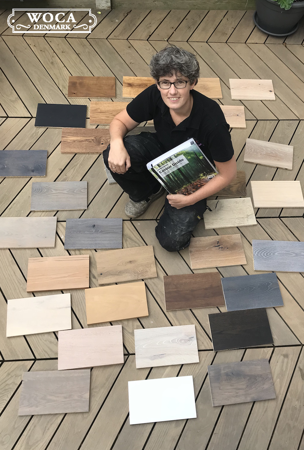 Nederlands kampioen parketleggen Saar Berks is fan van de kleuren houten vloeren olie van WOCA #houtenvloer #parket #woca