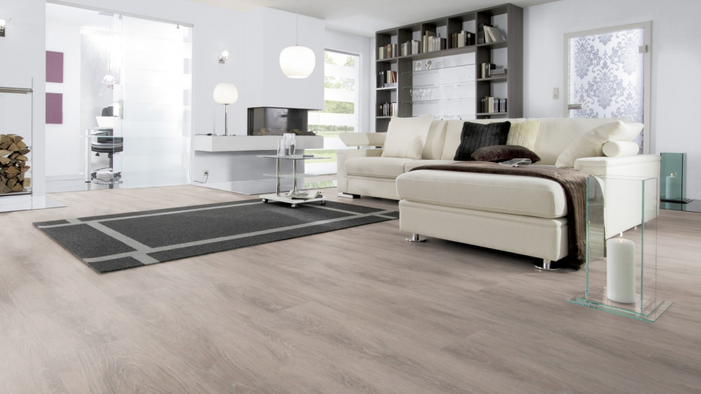 Kunststof vloer met XL planken en houtlook - Designline Connect Kingsize via Windmoller
