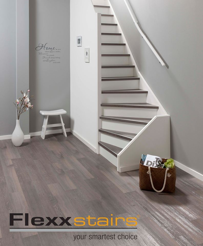 Flexxfloors traprenovatie kunststof trapprofielen #traprenovatie #trap #flexxfloors #interieur