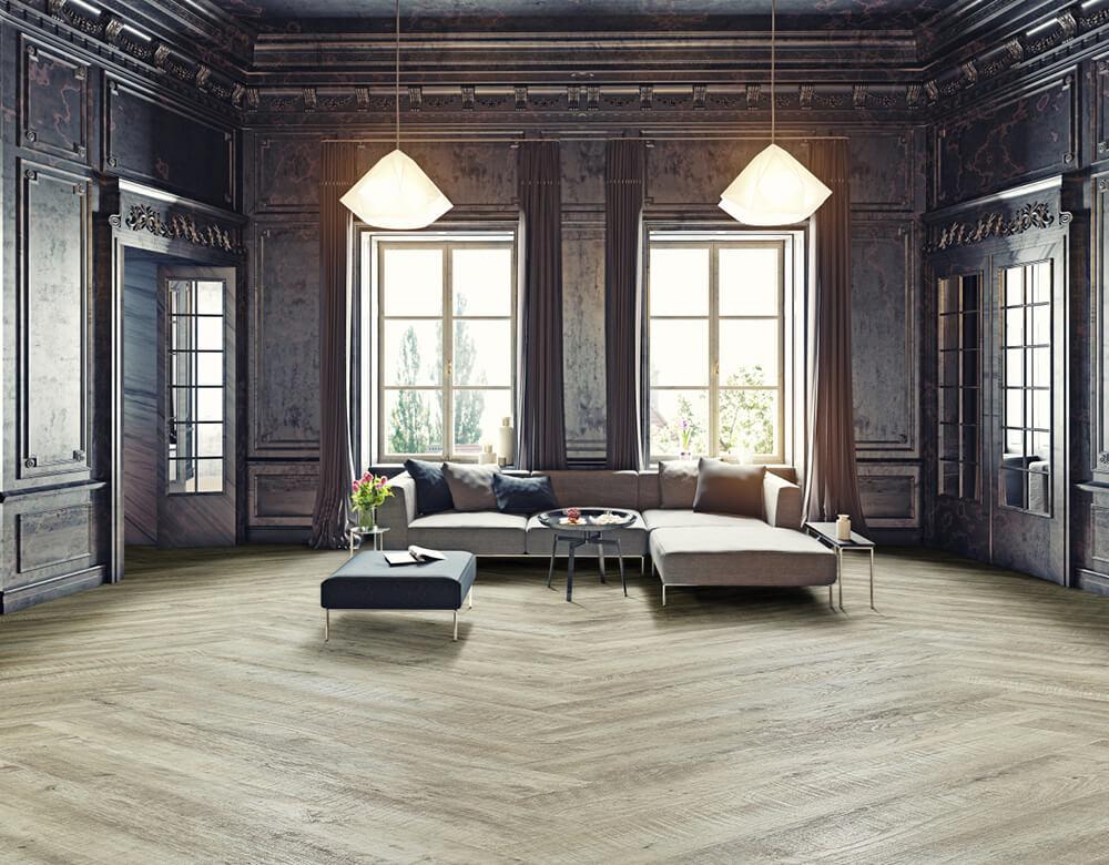 De looks van een houten vloer met het gemak van pvc nieuws