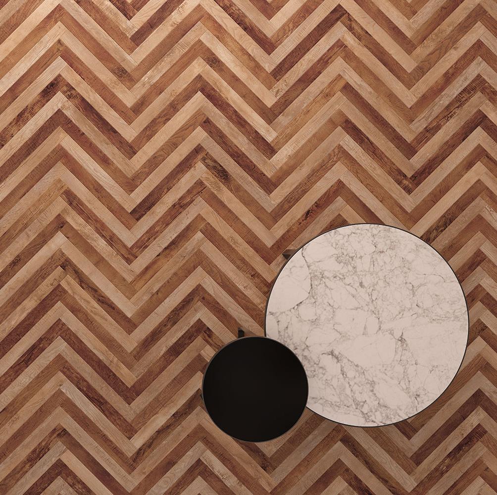 Vinyl vloer met visgraat dessin - Moduleo Moods #houtlook