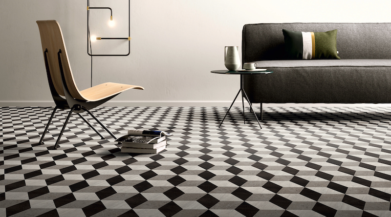 PVC vloer Moduleo Moods met 3D cubes #moduleo #pvc #vloer #interieurinspiratie #interieur