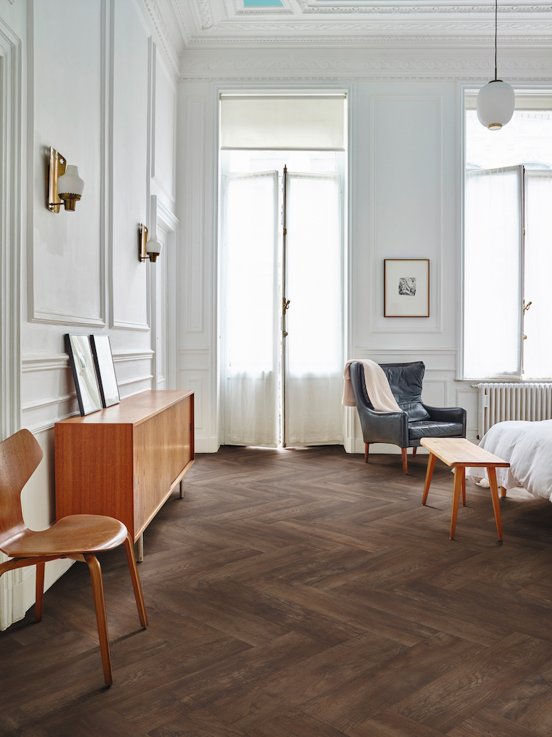 PVC vloer Moduleo Moods Herringbone #moduleo #pvc #vloer #interieurinspiratie #interieur