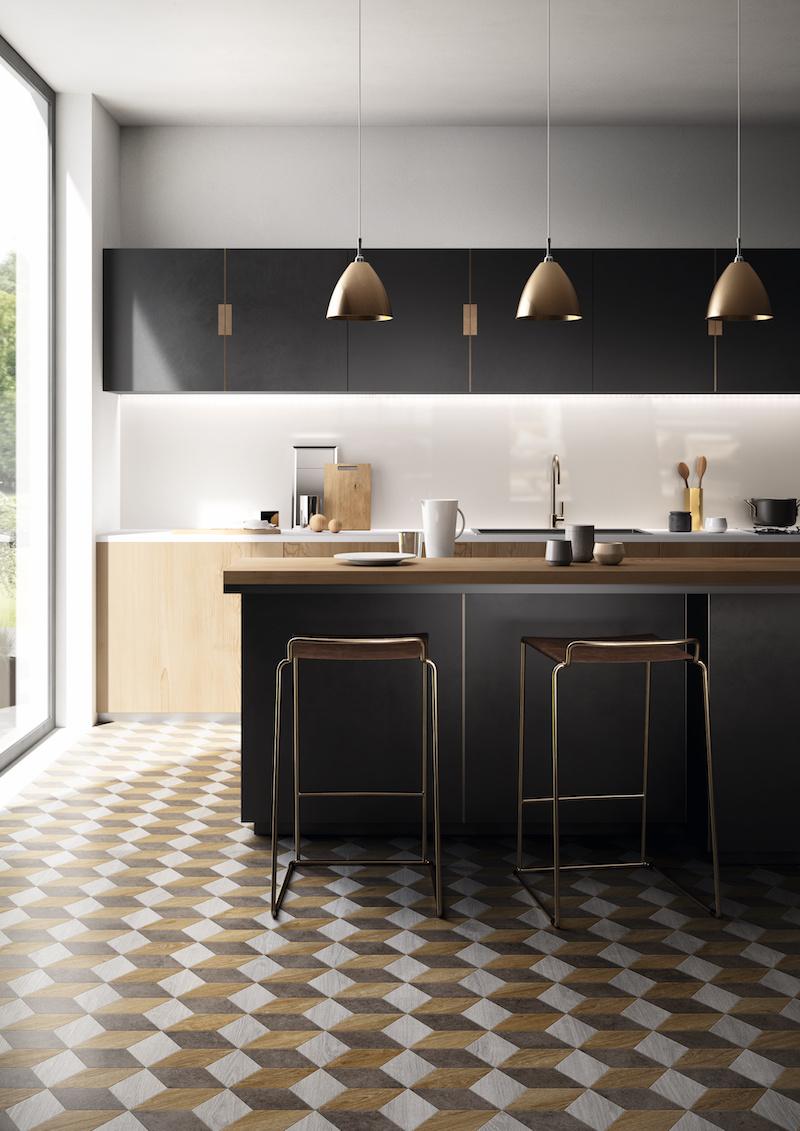 PVC vloer Moduleo Moods in de keuken #moduleo #pvc #vloer #interieurinspiratie #interieur