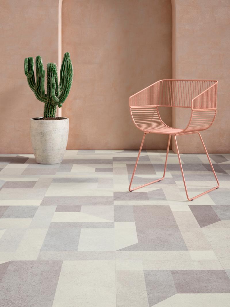 Interieurinspiratie: pvc vloeren met dessin Jumble Stone. Expressive Floors uit de Impress collectie van Moduleo #vloeren #pvcvloer #moduleo #interieur