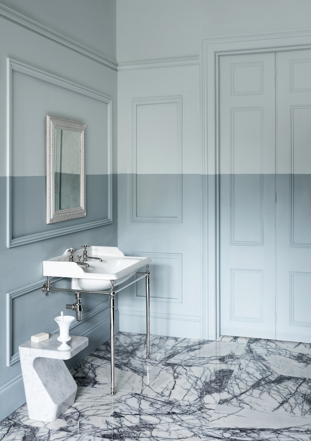 Badkamer kleur. Pasteltinten Paint & Paper library #badkamer #kleur #muurverf #pastel #inspiratie