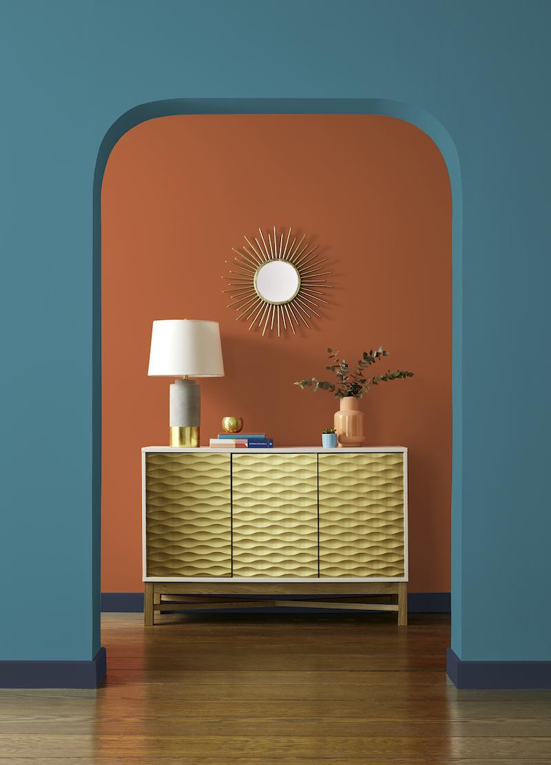 Verftrends interieur. Kies voor contrast. Fortune Cookie en Tropical Escape van Graham & Brown #interieur #kleur #verf #grahambrown
