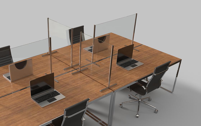 Corona spatschermen werkplek kantoor duka connect sealskin #spatschermen #corona