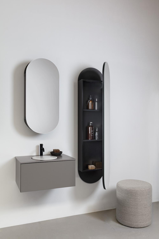 Ovaal is de trend in de badkamer #detremmeire #badkamer #badkamermeubels