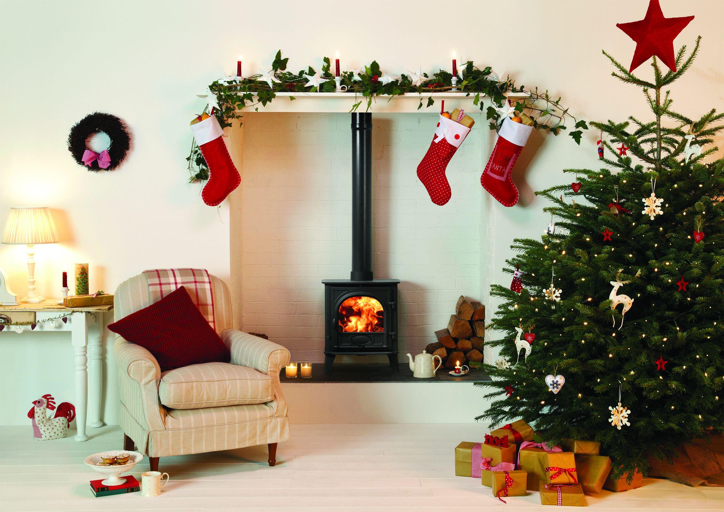 Hotkachel Stovax Stockton kerstboom #kerst #kerstboom #houtkachel