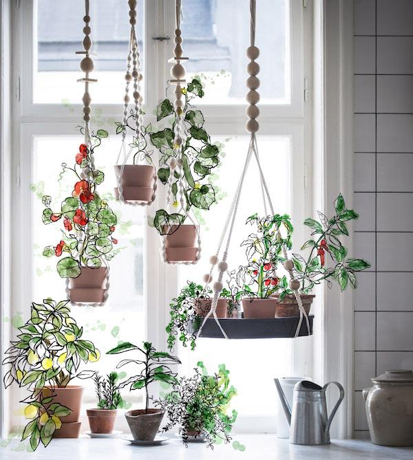 IKEA plantenhangers