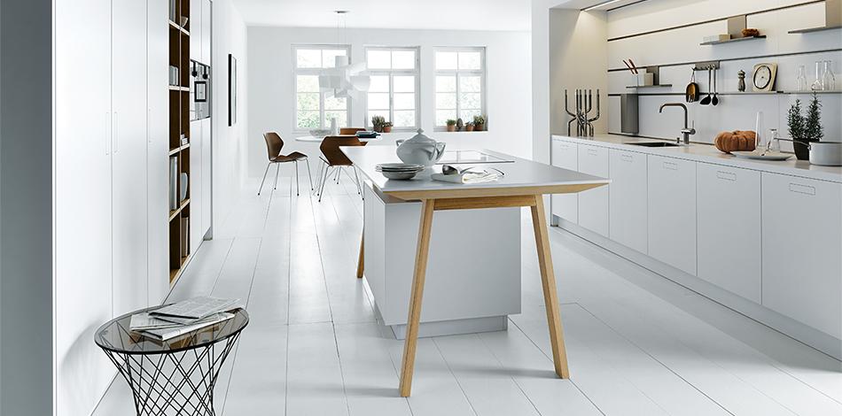 Wit in huis! Witte keuken van next125 - nx800 #keuken #wit