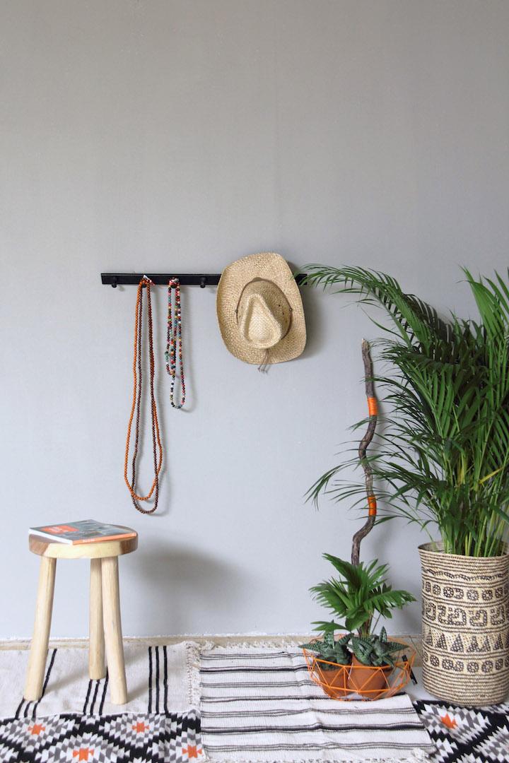 Interieur met Amazona krijtverf - olijfgrijs