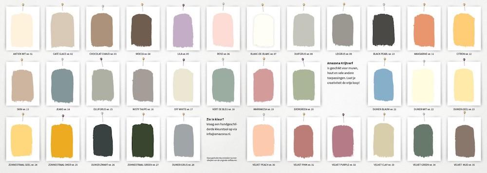 Amazona krijtverf kleuren #krijtverf