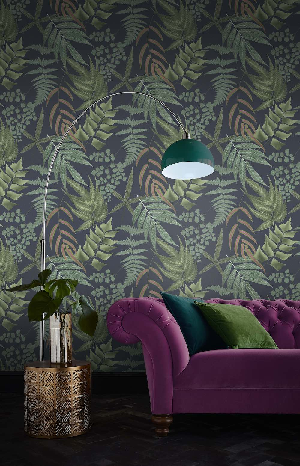 Make-over van het interieur. Behang van Graham Brown