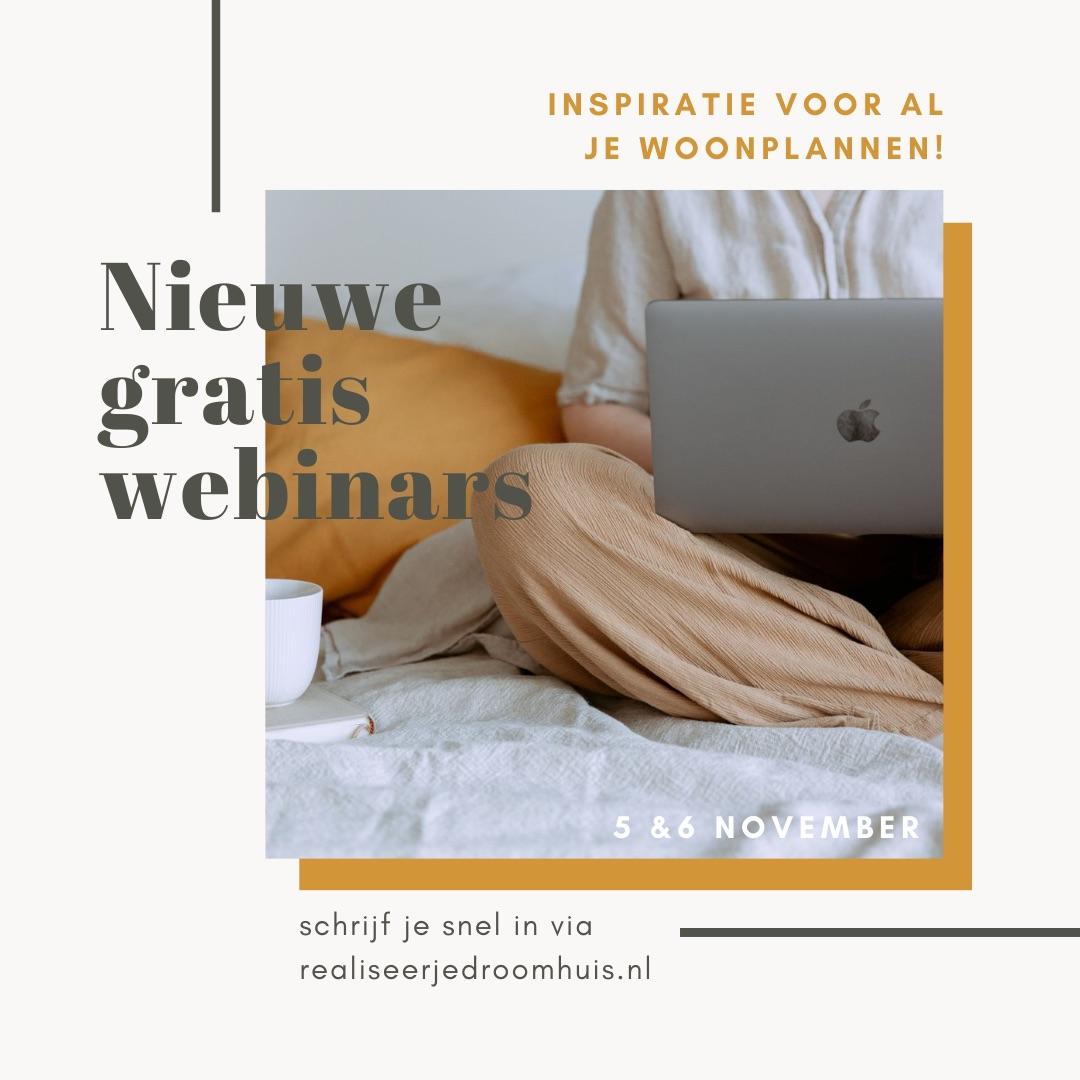 Inspirerende webinars Beurs Eigen Huis. Realiseer je droomhuis #verbouwen #interieur #beurseigenhuis #realiseerjedroomhuis
