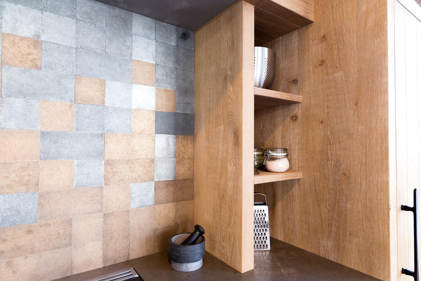 Achterwand keuken tegelmix Pure Tiles
