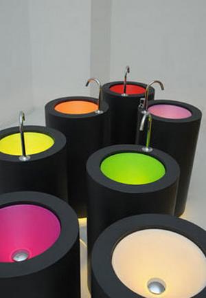 Wet wastafels neon kleur