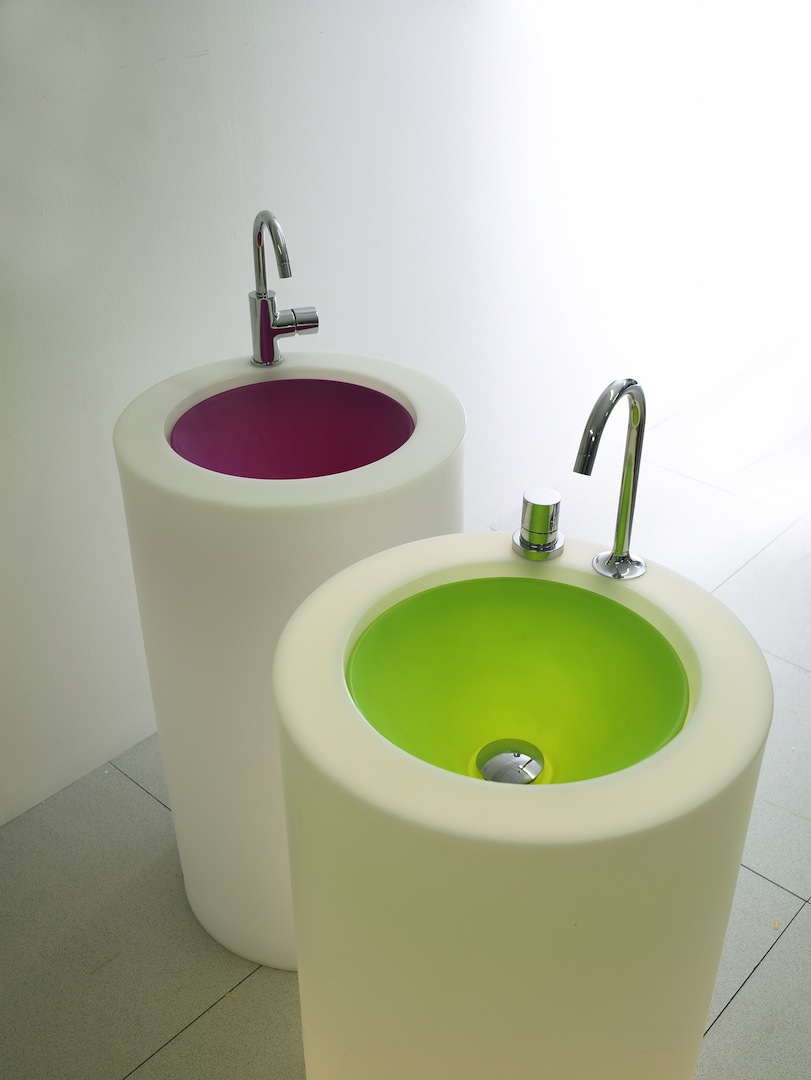 Wastafel kleur neon Wet
