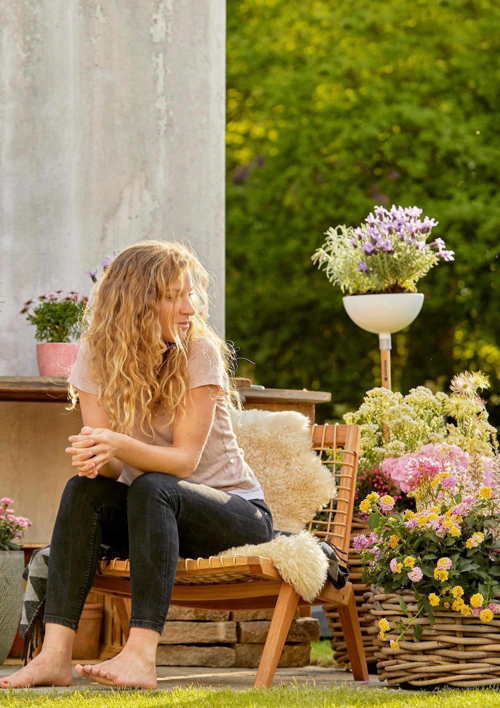 Plantenbak met clickup systeem van Gardena #plantenbak #tuin #clickup #tuinidee #tuininspiratie