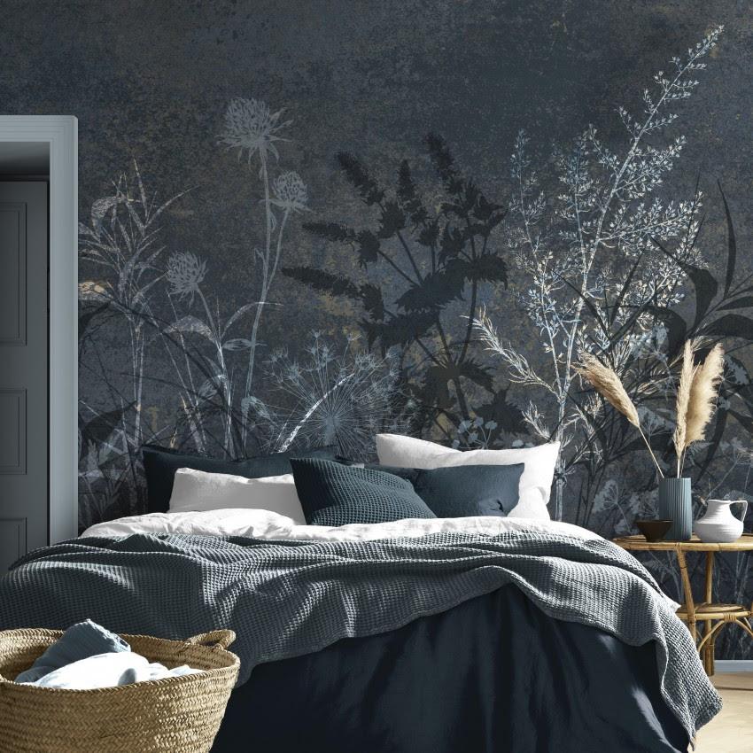 Interieurtrends. Behang van het jaar 2022 Restore Midnight van Graham & Brown #trends #interieurtrends #behang #grahambrown