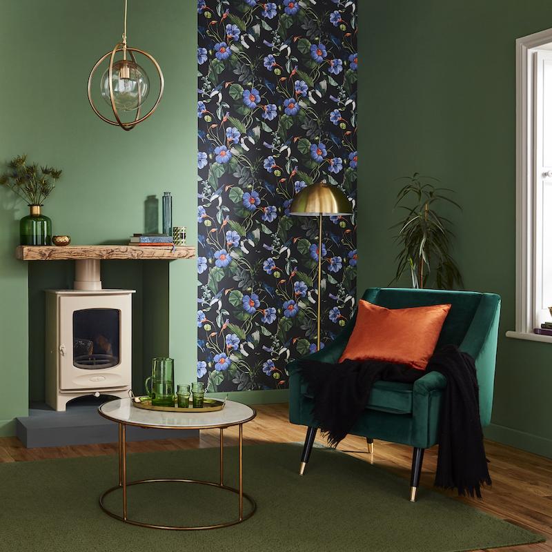 Interieurinspiratie. Behang Graham and Brown #woonkamer #interieur #kleur #behang #grahambrown