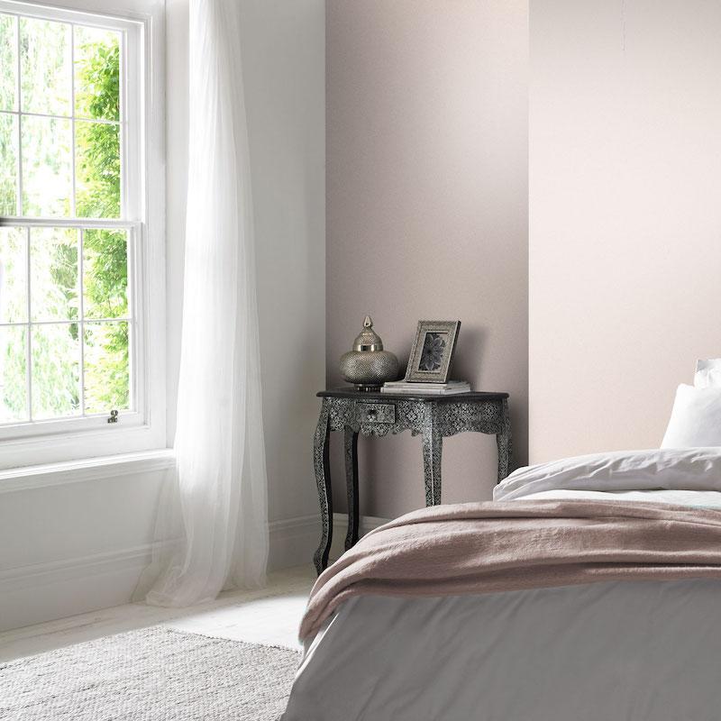 Slaapkamerinspiratie! Slaapkamer met muurverf van Graham & Brown #interieur #muurverf #slaapkamer