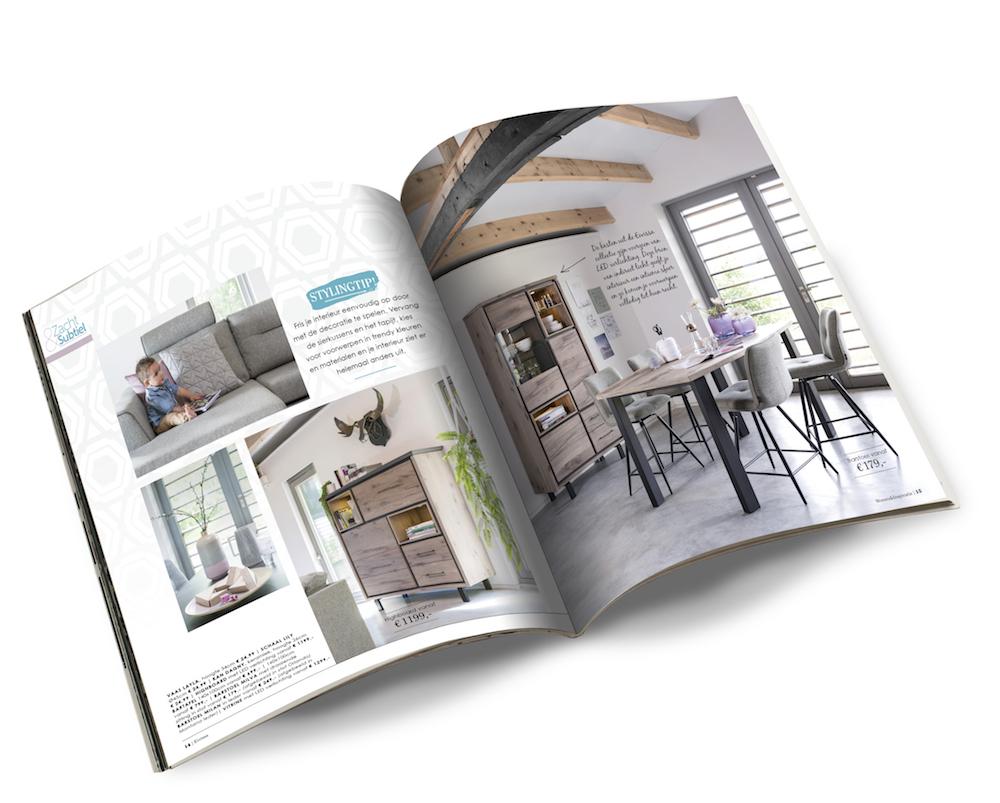 Vraag nu het nieuwe en gratis woon- en inspiratieboek 2017 van Henders en Hazel aan, boordevol meubels voor de woonkamer en woonkeuken