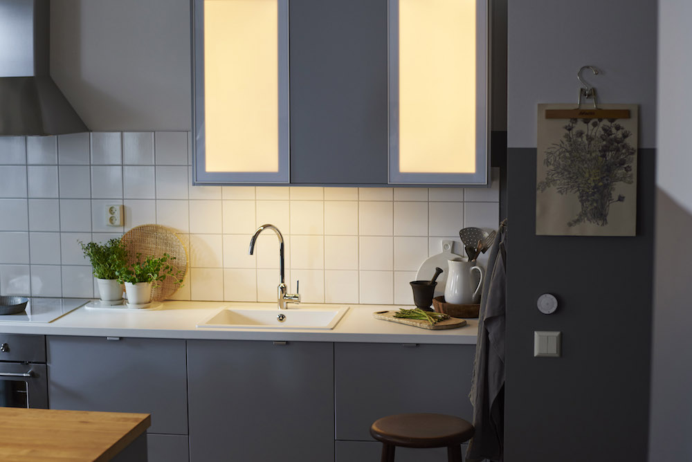 Ikea smart lighting collection - dimbare verlichting keuken