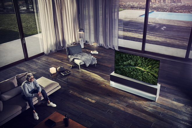 LG Signature OLED-TV oprolbare flatscreen van LG #flatscreen #gadget #tv #interieur #homeentertainment
