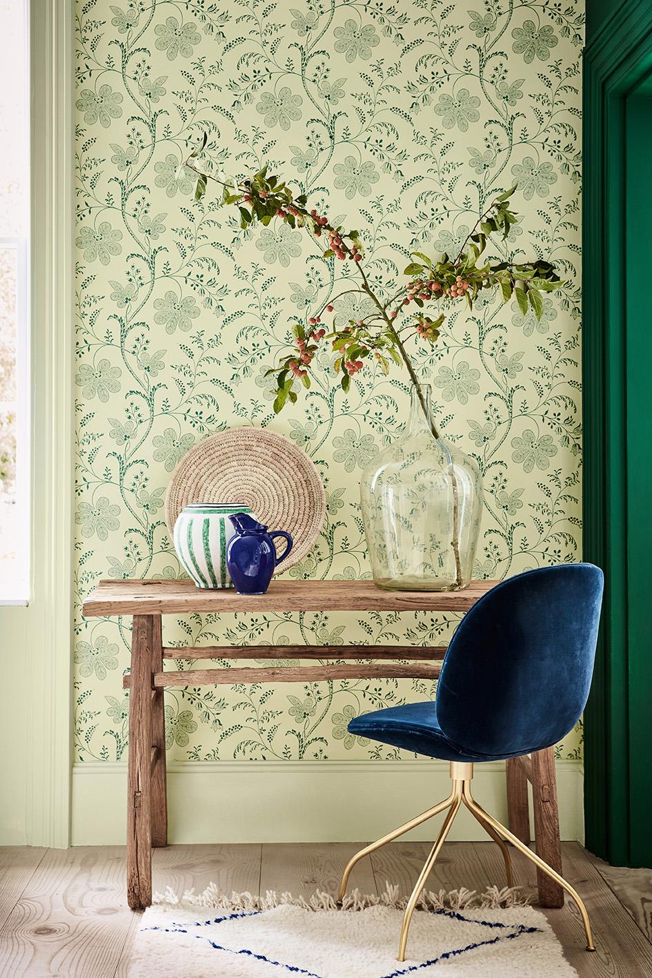 Behang Little Green #interieur #behang #interieurinspiratie #kleur #wandbekleding #interior