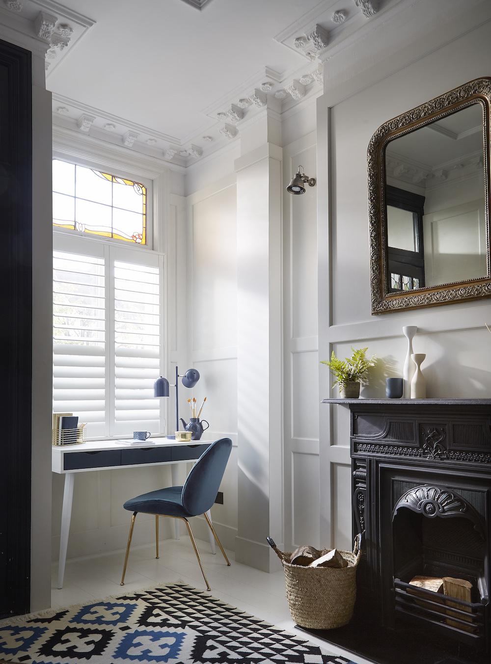 Thuiswerken kantoor inspiratie #thuiskantoor #werkkamer #shutters #luxaflex