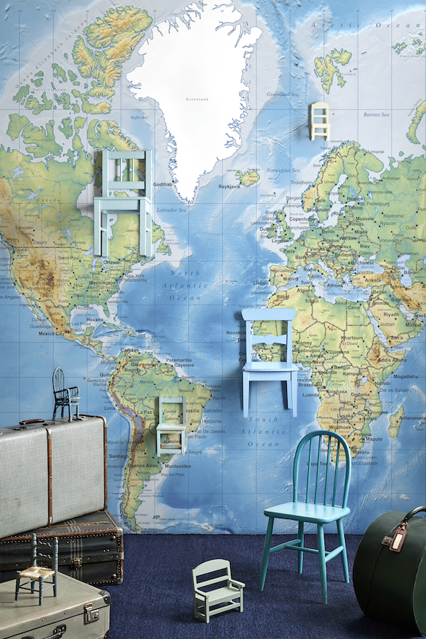 photowall world map