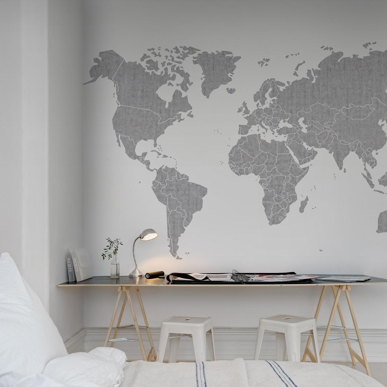 Rebel Walls behang wereldkaart #behang #wereldkaart