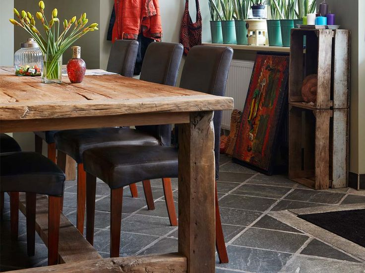 Kasteeltafel van oud eikenhout via RestyleXL