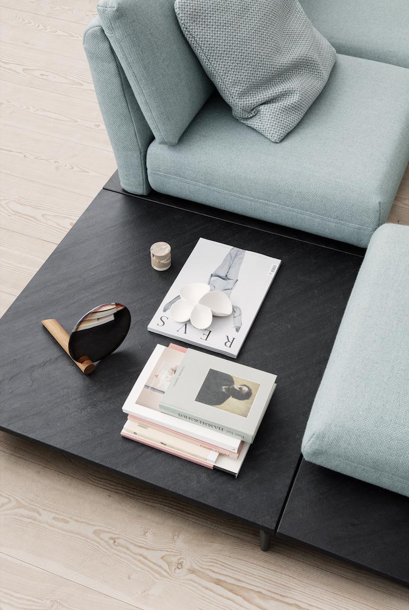 Rolf benz flexibele zitbank met tafel #interieur