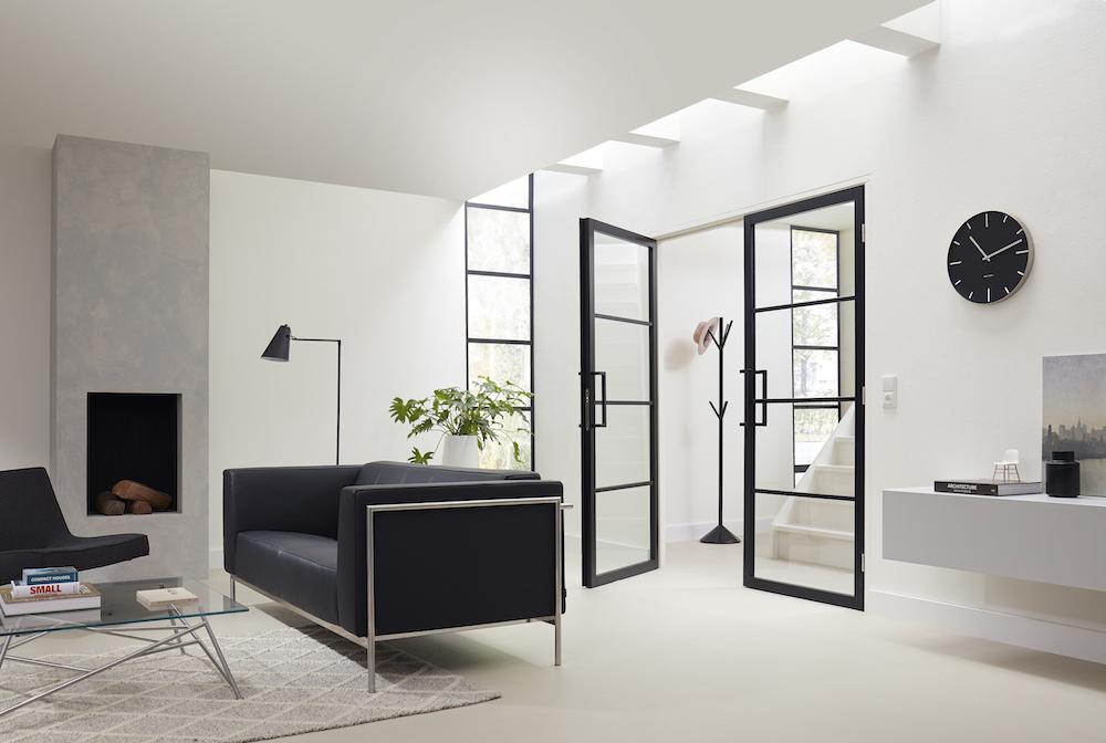 Designdeuren interieur. Binnendeuren met extra smalle stijlen en veel glas. Slimseries #interieur #binnendeuren