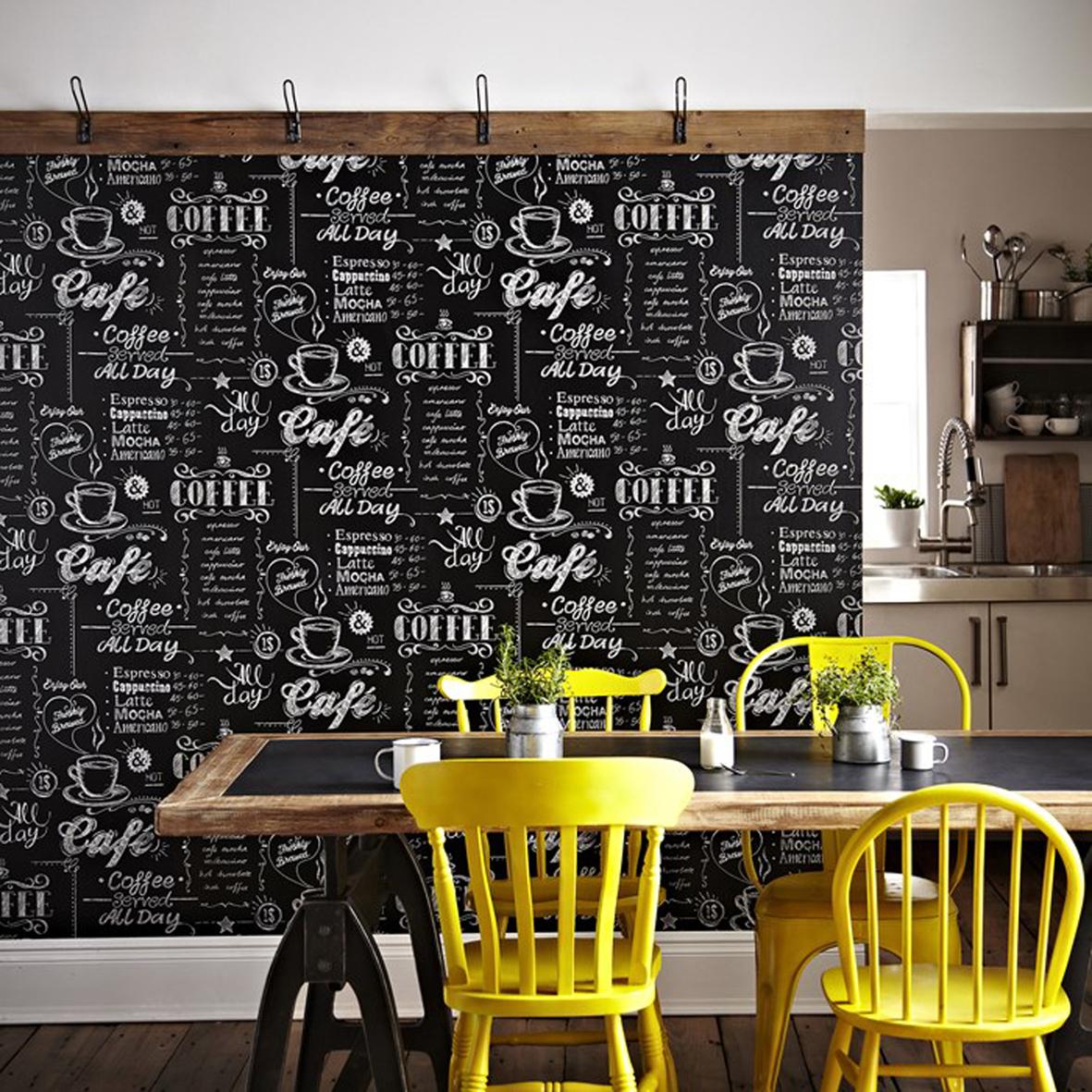 Black White Kitchen Wallpaper: Interieur En Wonen Ideeën