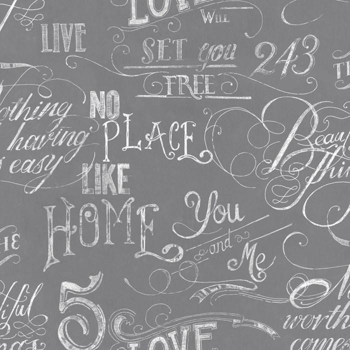 Krijtbord behang grijs - Fresco